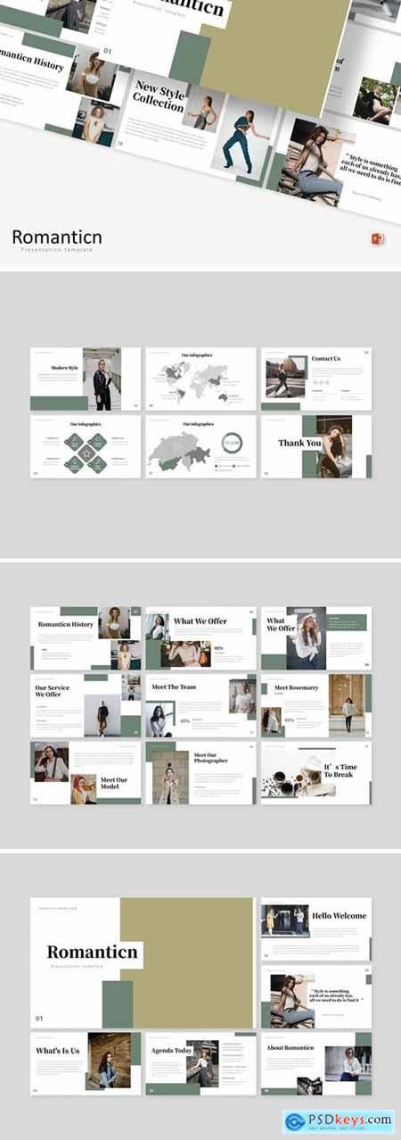 Romanticn Powerpoint, Keynote and Google Slides Templates