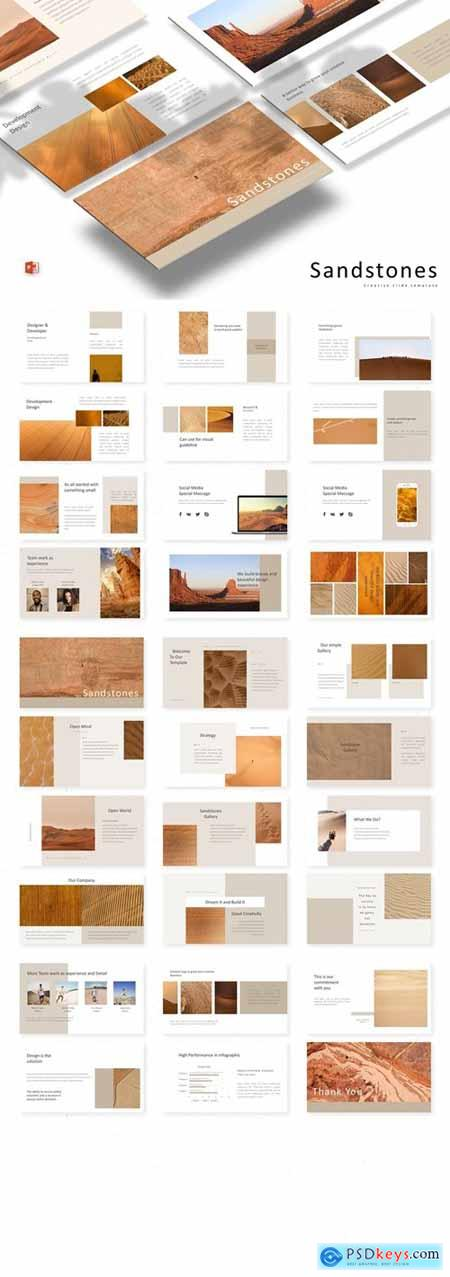 Sandstones Powerpoint, Keynote and Google Slides Templates