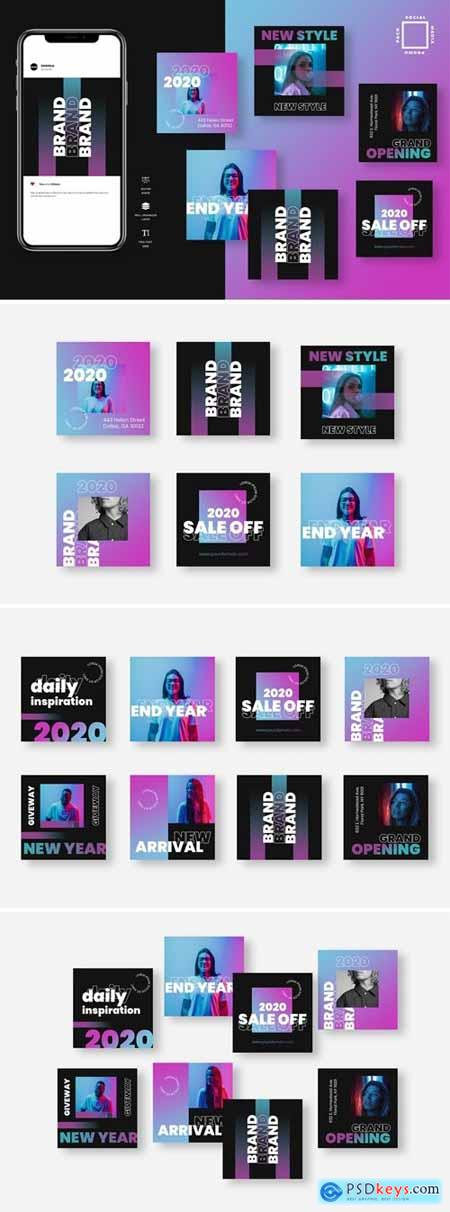 Seven Duotone Instagram Post Template
