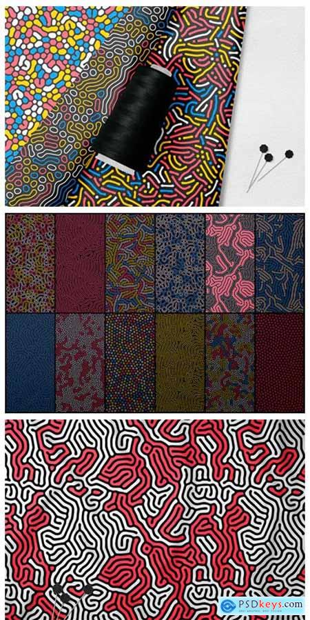 24 Organic Seamless Patterns Set 2297000