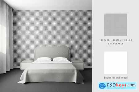Bedroom Interior Objects Mockup 4100136
