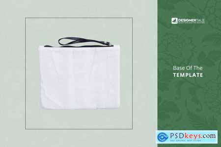 Fabric Wristlet Bag Mockup 4103667