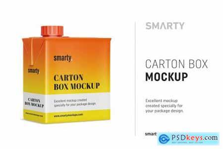 Carton box mockup 4357839