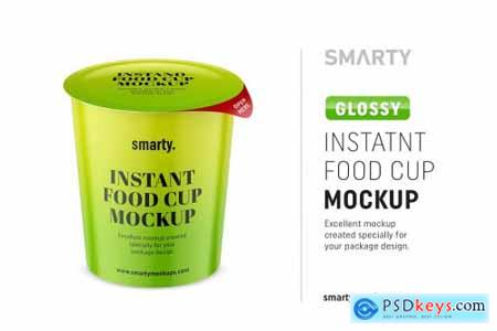 Glossy instant food cup mockup 4358120