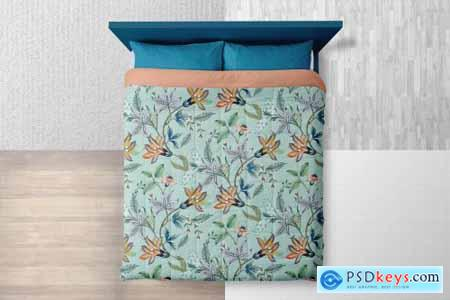 Queen Size Bed Linen Mockup 4131214