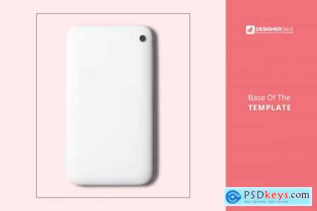 Top View Smart Phone Back Cover Mock 4125800