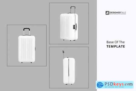 Tourist Trolley Luggage Mockup 4125798