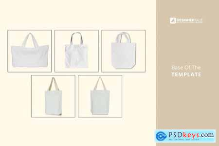 Tote Bag Mockup Set 4125819