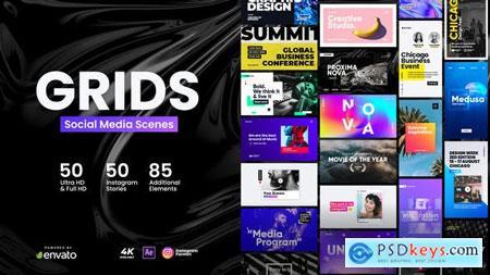 Videohive Grids Social Media Scenes 24796583