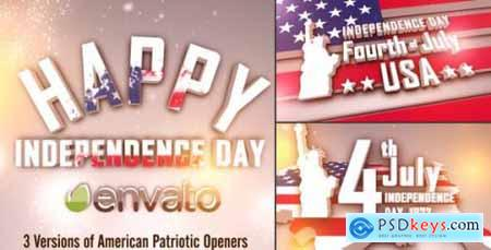 Videohive USA Freedom Patriotic Openers Pack 7838821