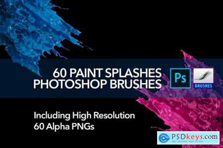 60 Paint Splash Brushes for PS 4388616