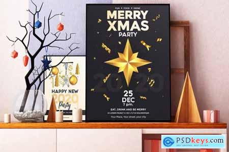 Christmas and Happy New Year flyers 4356290