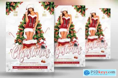 Christmas New Year Party Flyer 4387388