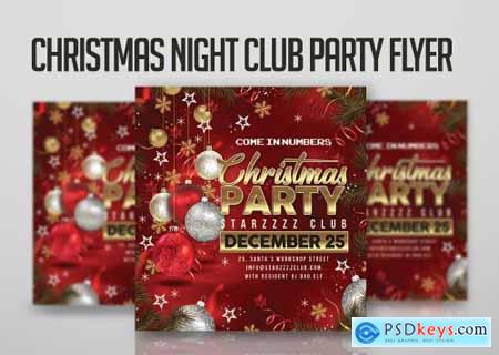 Christmas Night Club Party Flyer 4355210