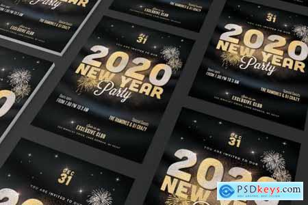 New Year Party Flyer Gold 4385454