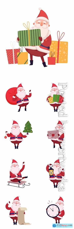 Funny santa in vector