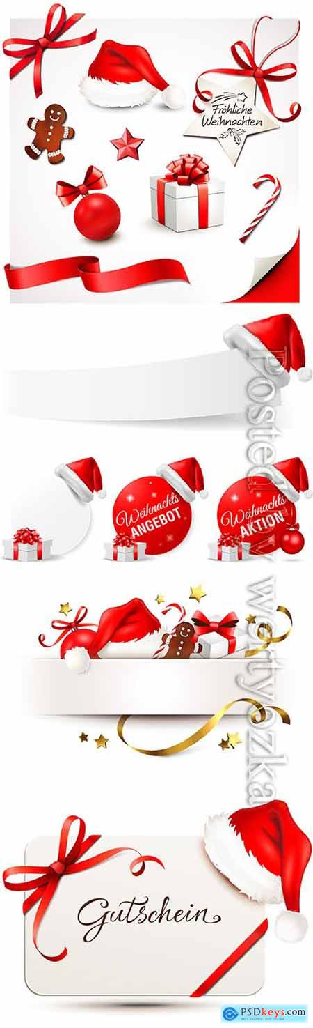 Christmas and New Year design elements in vector