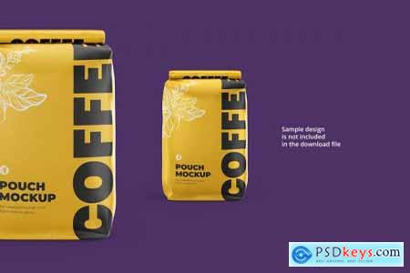 Coffee Pouch mockup Back view 4225678