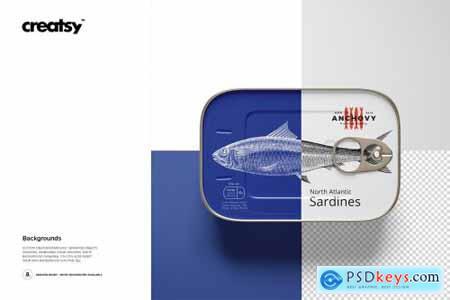 Sardine Fish Tin Can Mockup Set 4177576