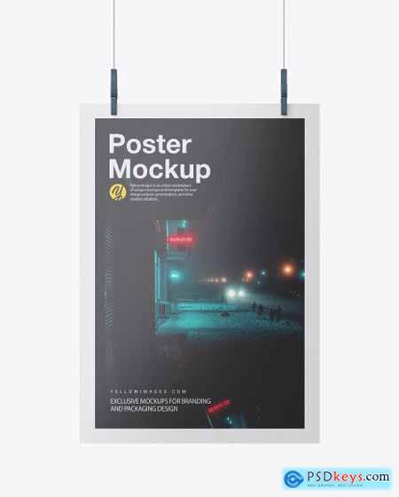Glossy A3 Poster Mockup 51546