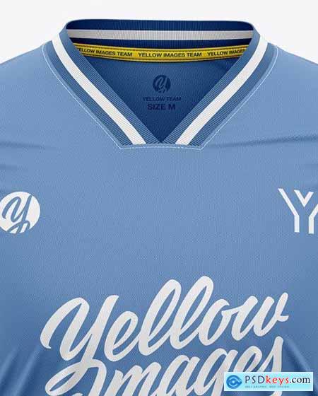Men's Long Sleeve Soccer Kit Mockup - Front 51671