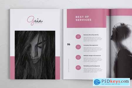 GAIA Company Creative Agency Portfolio Brochures