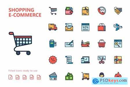Shopping E-Commerce Icons Pack