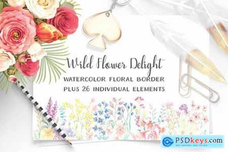 Wildflower Delight Border Plus Elements