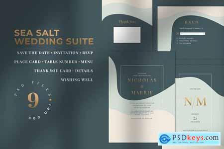 SEA SALT - Wedding Invitation Suite