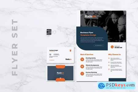 RADEON Creative Agency Flyer & Business Card