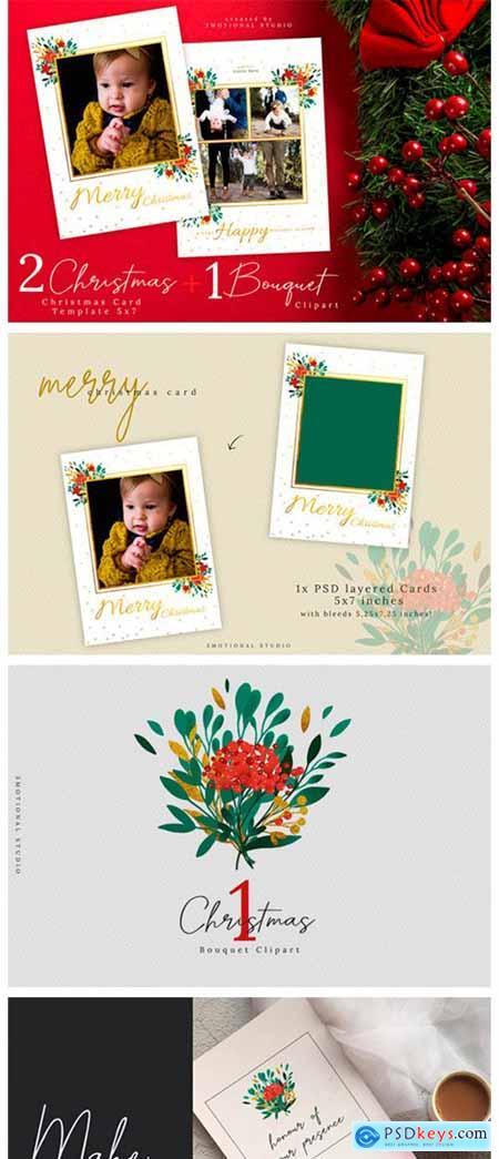 Christmas Card Template 5x7 2333463