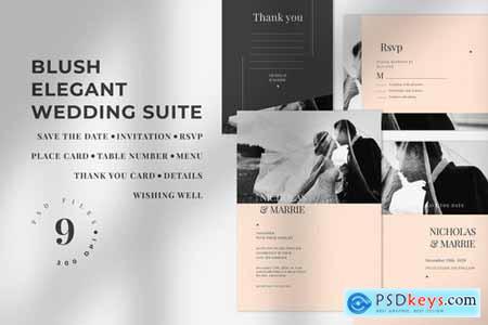 Blush Elegant Wedding Suite