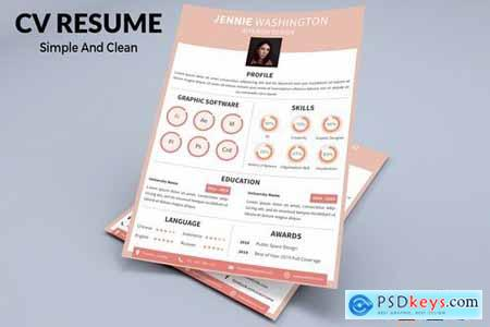 CV Resume Modern And Elegant