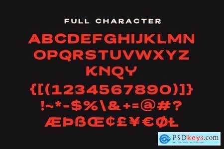 Melburch Typeface