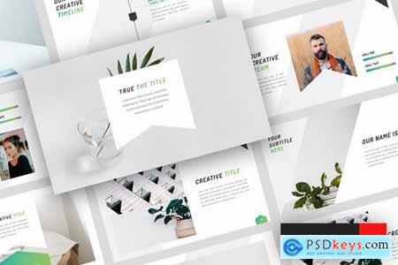 True - Minimal Powerpoint Google Slides and Keynote Templates