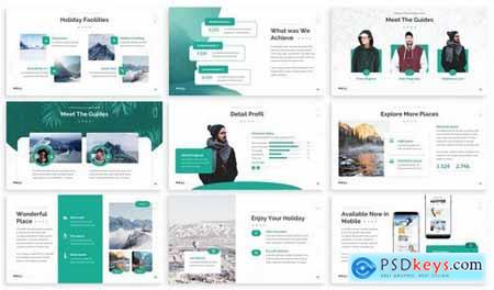 Holi Winter - Vacation Powerpoint Template