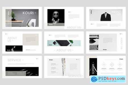 Kouri - Minimal Powerpoint Google Slides and Keynote Templates