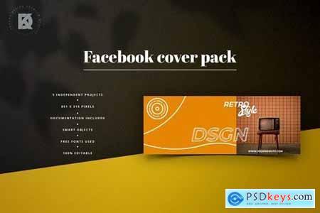 Retro Facebook Cover Pack