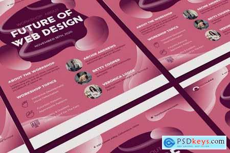 Workshop A5 Business Flyer Poster DL Rackcard Illustrator Templates
