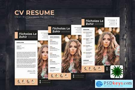 Soft Brown CV Resume Template