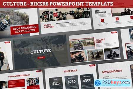 Culture - Bikers Powerpoint Template