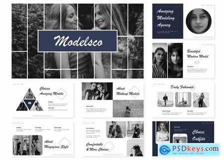 Modelsco Powerpoint Template