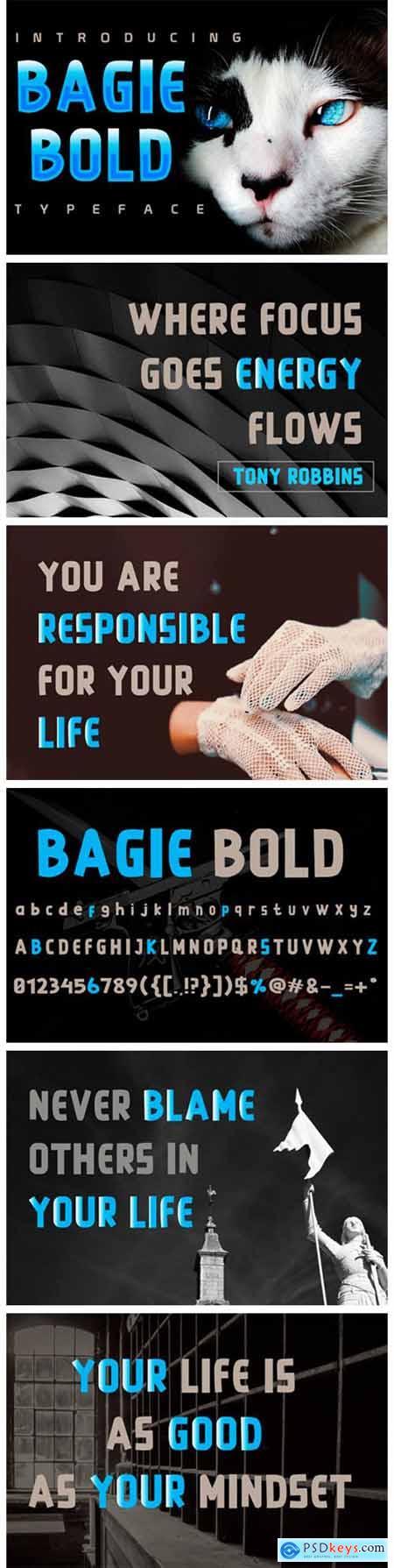 Bagie Bold Font