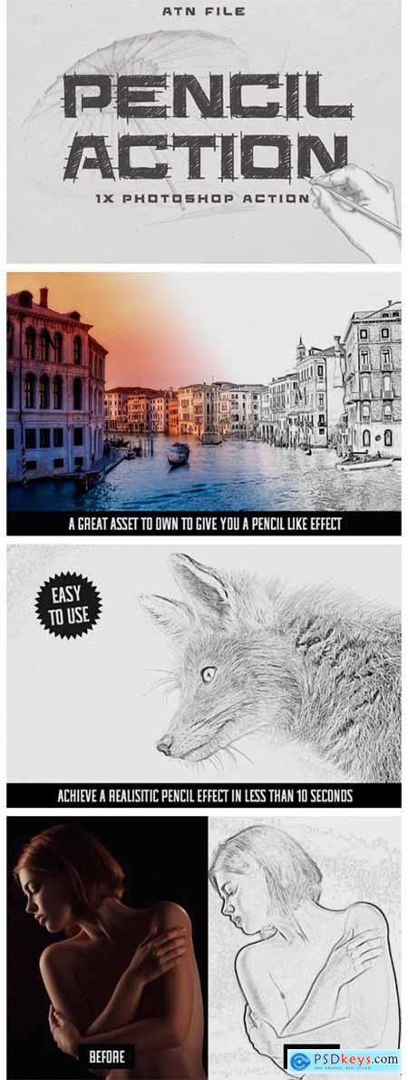 Easy Pencil Effect for Photoshop 2333200