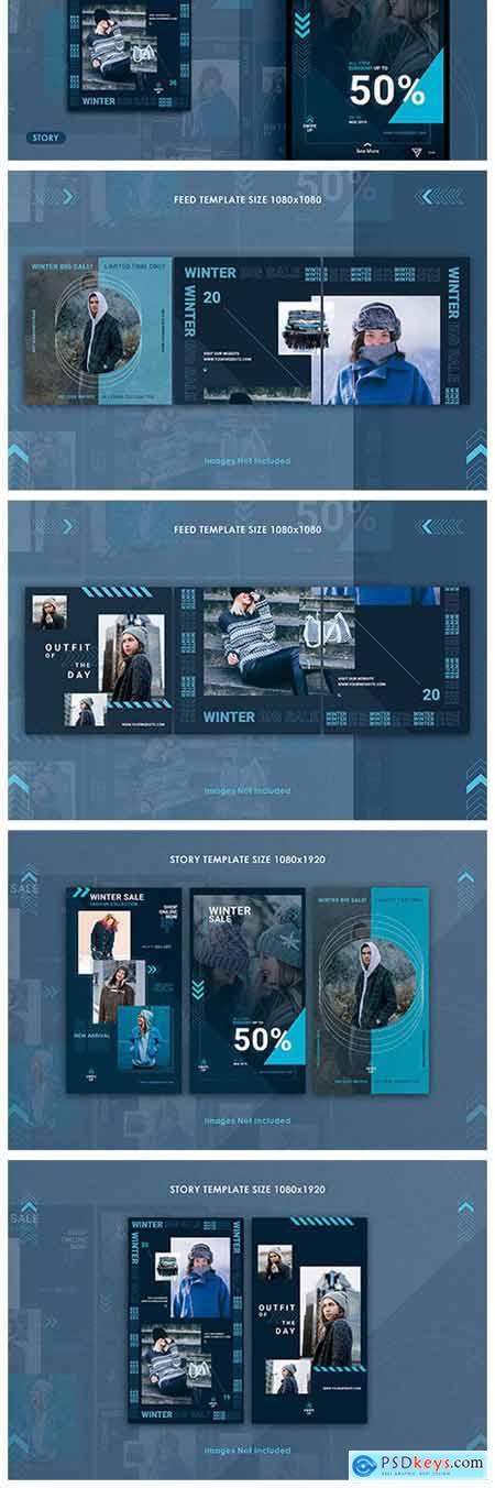 Winter Sale Instagram Feed & Story 2333270