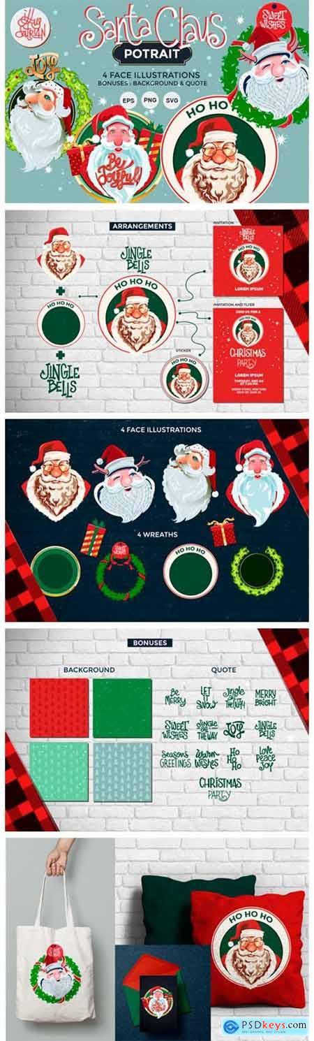 Santa Claus Potrait Illlustrations 2340053