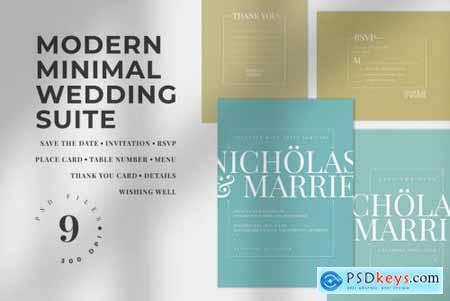 Modern Minimal Wedding Suite