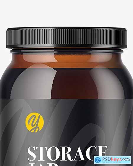 Amber Glass Storage Jar Mockup 51687