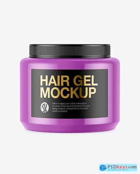Glossy Hair Gel Jar Mockup 51512