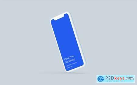 Clay iPhone 11 Pro Mockup - Clay Mockup Scenes